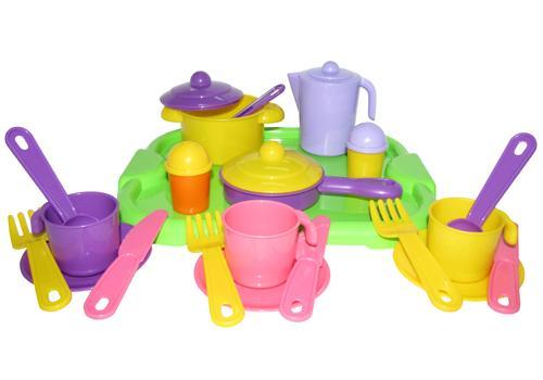 """Набор посуды """"Настенька"""" с подносом на 3 персоны 3957 1"""