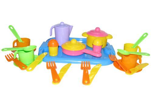 """Набор посуды """"Настенька"""" с подносом на 4 персоны 3964 1"""