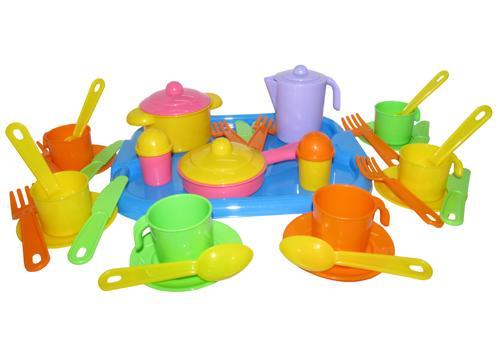 """Набор посуды """"Настенька"""" с подносом на 6 персон 3971 1"""