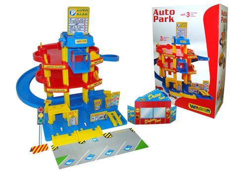 Паркинг 3-уровневый с автомобилями (в коробке) 37893 1
