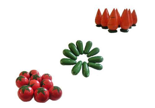 Счетный материал овощи морковка/помидор/огурец 10 шт. Р-45/788 1