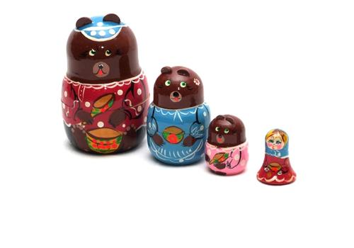"""Матрешка """"Три медведя"""" 4 перс. Р45/751 1"""