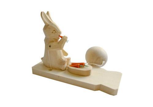 """Богородская игрушка """"Заяц с морковкой"""" 7892 1"""