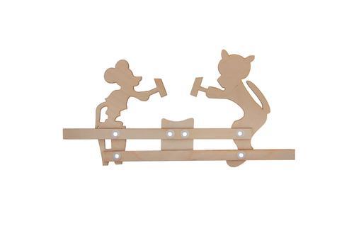 """Богородская игрушка """"Кузнецы. Кот и Мышь"""" под роспись Р45/938 1"""
