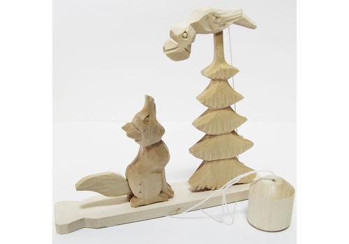 """Богородская игрушка """"Ворона и лиса"""" 1"""