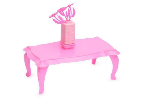 Журнальный столик с цветами для куклы (розовые) С-1395 1