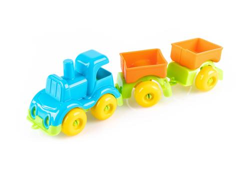 """Игровой набор """"Железная дорога с паровозом и вагонами"""" КНОПА 86207 2"""