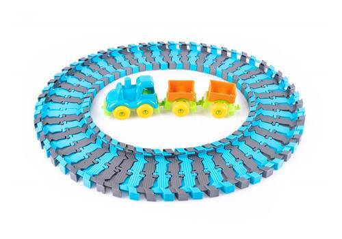 """Игровой набор """"Железная дорога с паровозом и вагонами"""" КНОПА 86207 3"""