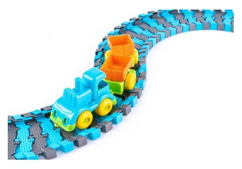 """Игровой набор """"Железная дорога с паровозом и вагонами"""" КНОПА 86207 1"""