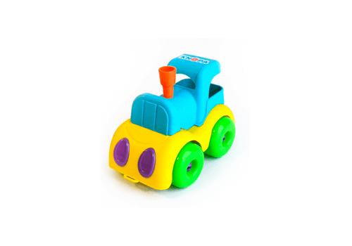 "Машинка ""Паровозик"" 22 см КНОПА (из гибкого пластика ) 86205 1"