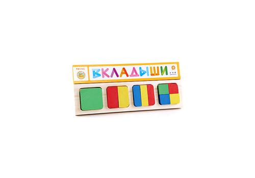 """Доска-вкладыш """"Геометрия квадрат"""" 332 1"""
