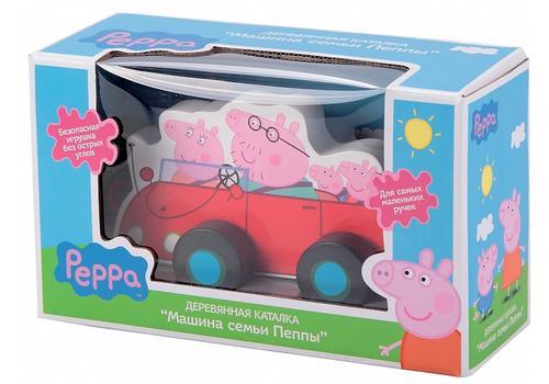 """Игровой набор """"Каталка Машина семьи Пеппы"""" (дерево) 24442 (Свинка Пеппа) 1"""