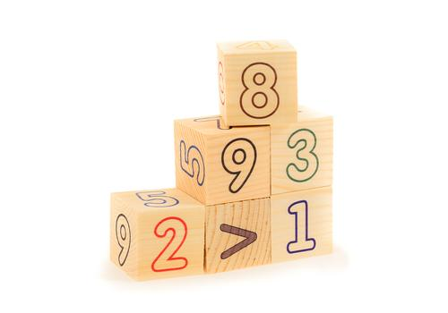"""Кубики 6 эл. """"Цифры-счет"""" Д490а 1"""